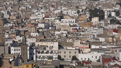Residential neighborhood with a local mosque in Casablanca, Morocco Stock Footage