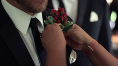 Winterberry Boutonniere Stock Footage
