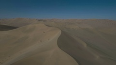 Aerial footage of stunning desert landscape in central China Stock Footage