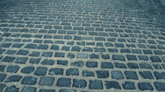 Steadicam shot of ancient urban pavement. 4K video Stock Footage