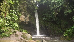 Beautiful tropical waterfall. Philippines Camiguin island Stock Footage