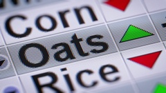 Oat index of the stock market. Up. Looping. Stock Footage