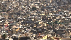 Narrow alleys of ancient city of Fez in central Morocco Stock Footage