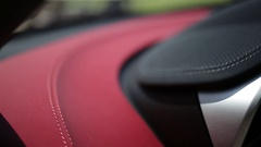 Durable leather car interior Stock Footage