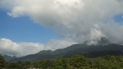 Landscape of mountains and sky.Camiguin island Stock Footage