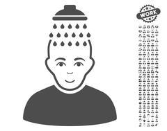 Head Shower Vector Icon With Bonus Piirros