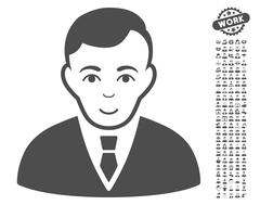Manager Vector Icon With Bonus Stock Illustration