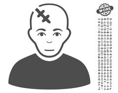 Head Hurt Vector Icon With Bonus Stock Illustration