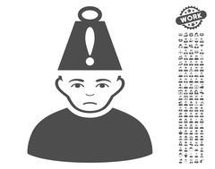 Head Stress Vector Icon With Bonus Stock Illustration