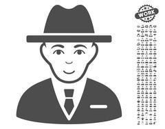 Agent Vector Icon With Bonus Stock Illustration
