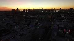 Miami Cit Sunset Stock Footage
