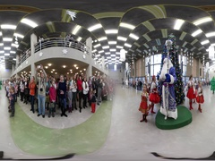 360 vr Video, Santa Claus Came to the Festival For Children Stock Footage