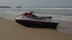 Water bike on the beach Stock Footage