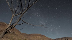 Night sky timelapse of stars and milky way Stock Footage