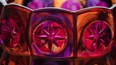 Multicolored handmade candlestick Stock Footage