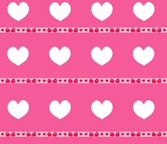 Heart seamless pattern. Valentines Day endless background. Pink texture, wa.. Stock Illustration