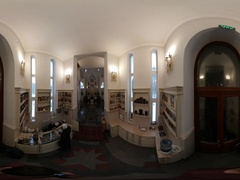 360 vr Video Christmas in Slavutich Icon Shop Church of the Holy Elijah Woman Stock Footage