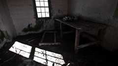 Indoor of abandoned building with shadow timelapse Stock Footage