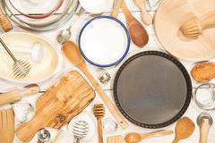 Various kitchen utensil Stock Photos