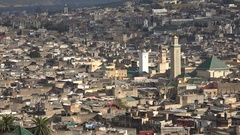 Old city of Fez in central Morocco Stock Footage