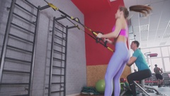 High-intensity endurance training and muscle development Stock Footage