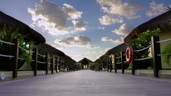Luxurious Tropical Villas Stock Footage