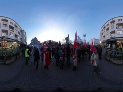 360Vr Video Saint Nicholas' Day in Opole Poland Parade Holiday People in Stock Footage