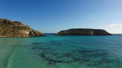 Flight over the clean sea of Sardinia Stock Footage
