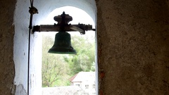 One bell in the church tower Stock Footage