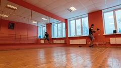 Break dancer in training Stock Footage