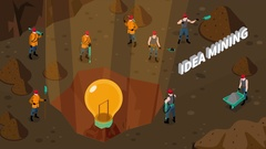 Idea isometric concept visualization video animation footage Stock Footage
