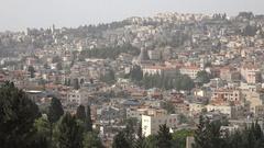 Nazareth church, Christian religion, holy land, Northern Israel Stock Footage