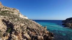Flight on the rocks of Sicily Stock Footage
