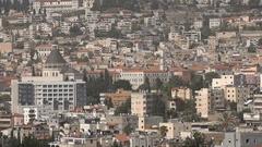 Church of Annunciation in Nazareth, Israel Stock Footage