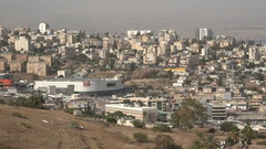Modern shopping mall in the center of Tiberias, a city in Northern Israel Stock Footage