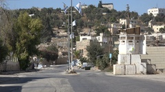 Empty streets in the contentious Jewish settlement in downtown Hebron Stock Footage