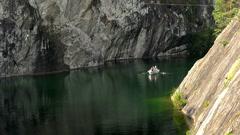 Landscape Marble Canyon. Ruskeala. Karelia. Stock Footage