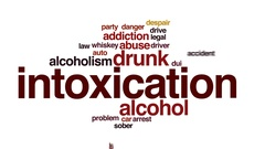 Intoxication animated word cloud, text design animation. Stock Footage
