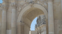 Arc of a monument in south Italy Stock Footage
