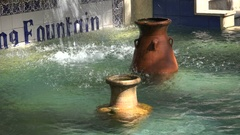 Water fountain in Jericho, to some accounts the oldest city in the world Stock Footage