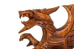 Toy wood dragon Stock Photos