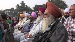 Members of the Sikh community attend a political rally in Kolkata, India Stock Footage