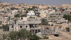 Residential apartment buildings (partly under construction) in Jericho West Bank Stock Footage