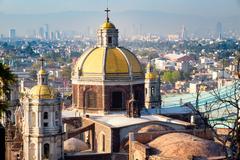 View of Mexico City from the Hill of Tepeyac with the Basilica of Guadalupe.. Kuvituskuvat