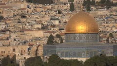 Islamic shrine Dome of the Rock on Temple Mount in central Jerusalem Stock Footage