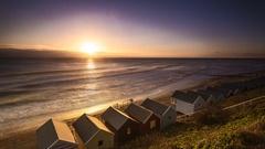 Sunrise Time Lapse Southwold UK 4K Stock Footage