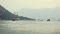 View of kotor Fiord Stock Footage