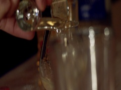 Slow Motion shot poured in Glass Stock Footage
