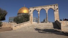 Entrance Dome of the Rock, Temple Mount, religion Jerusalem Israel Stock Footage