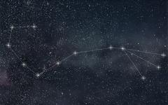 Scorpio Constellation. Zodiac Sign Scorpio constellation lines Stock Photos